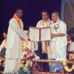 Receiving Phd from the Vice Chancellor- Dr Nagendra