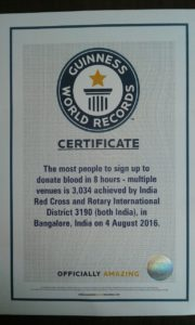 GWR Certificate-Blood Donation